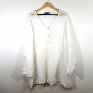Flax 100% Linen Long Sleeve